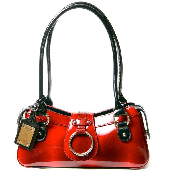 small beautiful red black patent purse designer handbag luxury bags celebrity bags style fashion