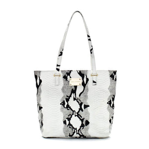 Highland Park White & Black Tote