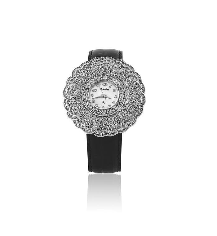 black swarovski crystal watch