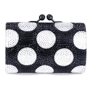 Black Clear Swarovski Crystal Clutches