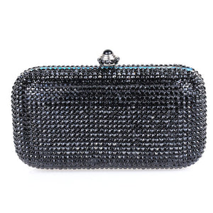 Black Swarovski Crystal Clutch