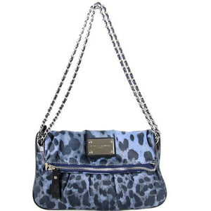 Blue Leopard Clutch messenger Bag
