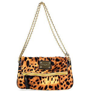 Brown leopard clutch messenger-bag