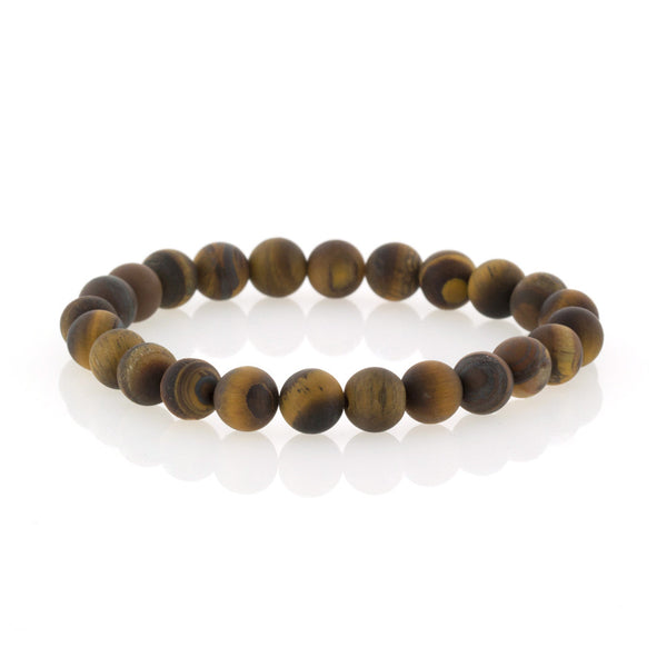 Brown Cat's-eye Beaded Bracelet by Bobby Schandra