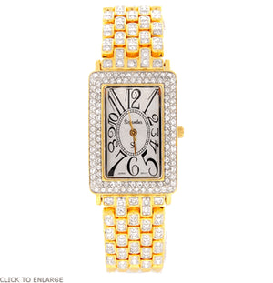 Classic Gold Swarovski Crystal Watch