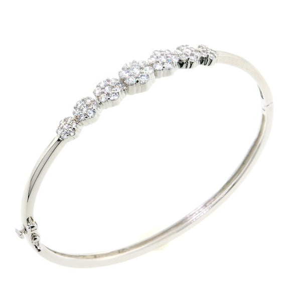 Chandi Diamond Daisy CZ Crystal Bangle Bracelet by Bobby Schandra