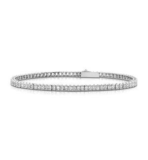 Delicate Channel-set princess cut silver tennis bracelet