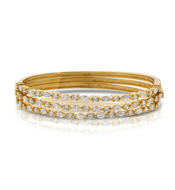 Delicate Gold Royalty Bangle Bracelet