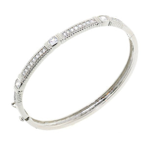 Chandi Diamond CZ Crystal Bangle Bracelet by Bobby Schandra
