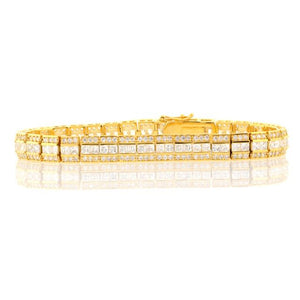 Chandi Diamond Gold 3 Row Tennis Bracelet by Bobby Schandra