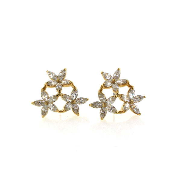 Swarovski crystal 3 star earrings