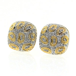 Gold and Silver Swarovski Crystal Leopard Earrings