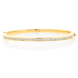 Chandi Diamond Gold CZ Bracelet by Bobby Schandra