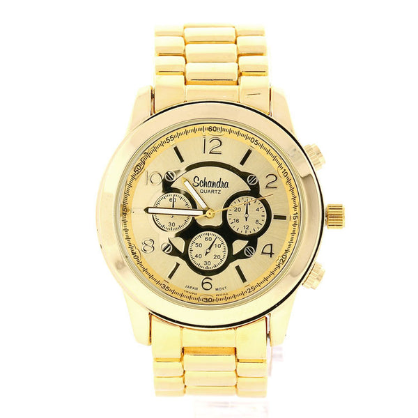 Gold Retro Link Watch