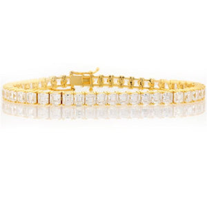 Chandi Diamond Gold Square Tennis Bracelet by Bobby Schandra