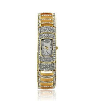 Gold Swarovski Crystal Mini Face Watch