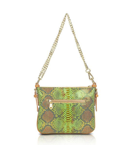 green-brown-black-designer-leather-messenger-crossbody-bag-front