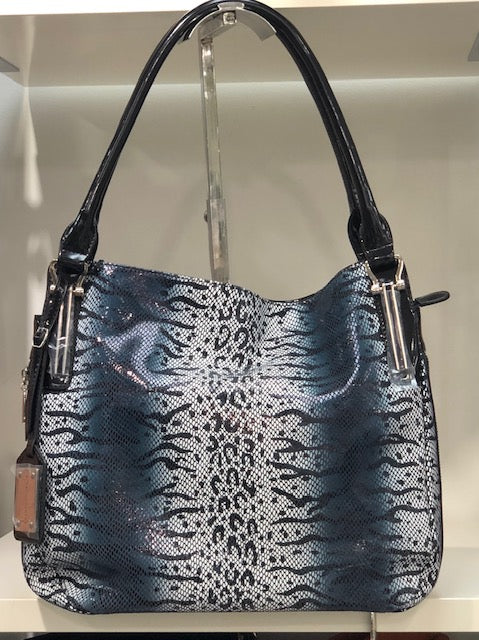 New Designer Tote Blue Black White