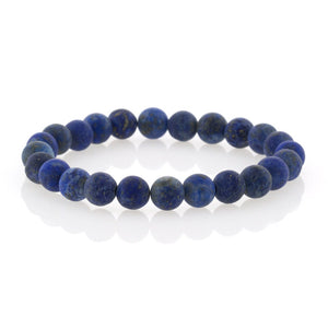Lapis Beaded Bracelet by Bobby Schandra