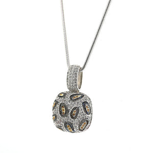 Leopard Swarovski Crystal Chandi Diamond Pendant Necklace by Bobby Schandra