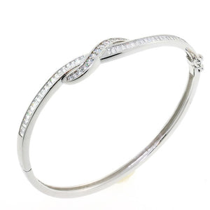 Chandi Diamond Love Knot CZ Crystal Bangle Bracelet by Bobby Schandra