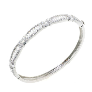 Chandi Diamond Marry Me CZ Crystal Bangle Bracelet by Bobby Schandra