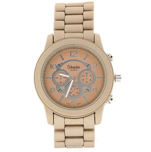 Matte Taupe Jumbo Link Watch