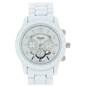 Matte White Jumbo Link Watch