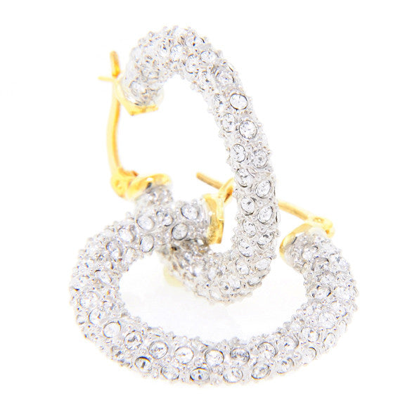 Medium Gold Swarovski Hoop Earring