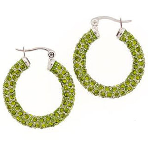 Medium Green Swarovski Crystal Earrings