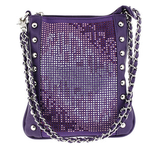 Purple Night on the Town Crossbody Messenger bag