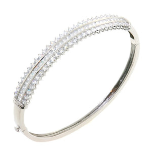 Chandi Diamond Queen CZ Crystal Bangle Bracelet by Bobby Schandra