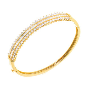 Chandi Diamond Queen Gold CZ Crystal Bangle Bracelet