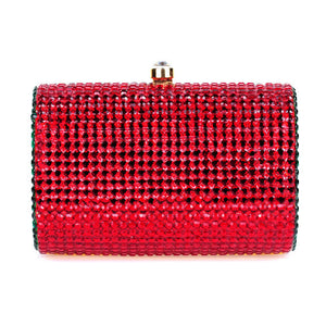 Red and Green Swarovski Crystal Clutch