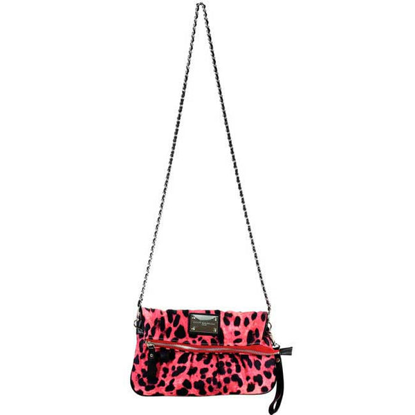 Pink Leopard Clutch Messenger Bag