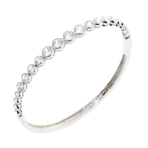 Chandi Diamond Round Cut CZ Crystal Bangle Bracelet by Bobby Schandra