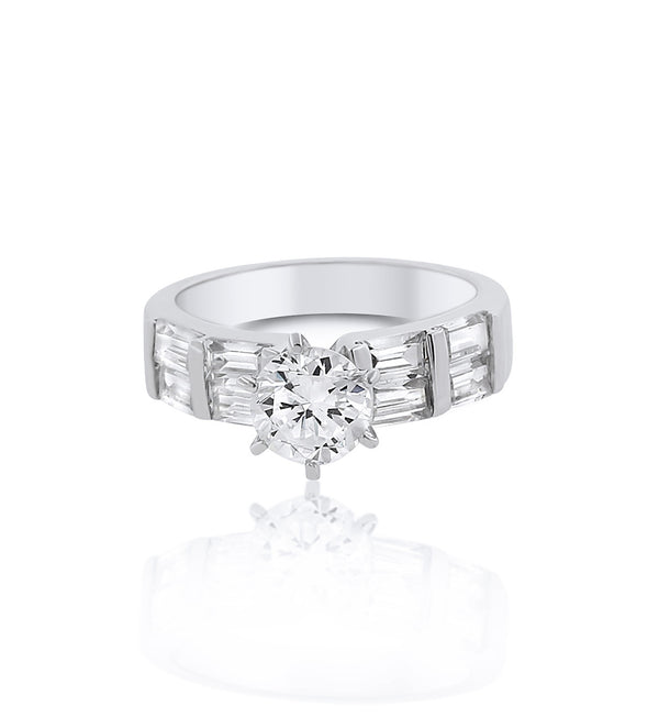 round-silver-cz-travel-ring-baguette-cut side stones-bobbyschandra