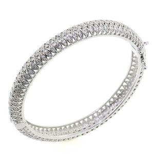 Chandi Diamond Royal CZ Crystal Bangle Bracelet by Bobby Schandra