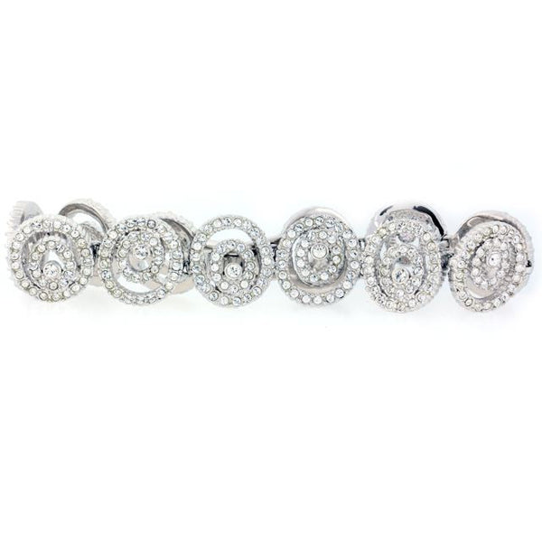 Chandi Diamond Silver and CZ Large Spiral Bracelet by Bobby Schandra