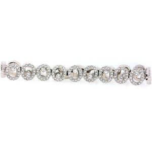 Chandi Diamond Silver and CZ Small Spiral Bracelet by Bobby Schandra