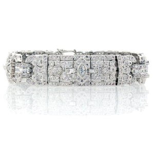 Chandi Diamond Silver and CZ Ultra Detailed Bracelet by Bobby Schandra