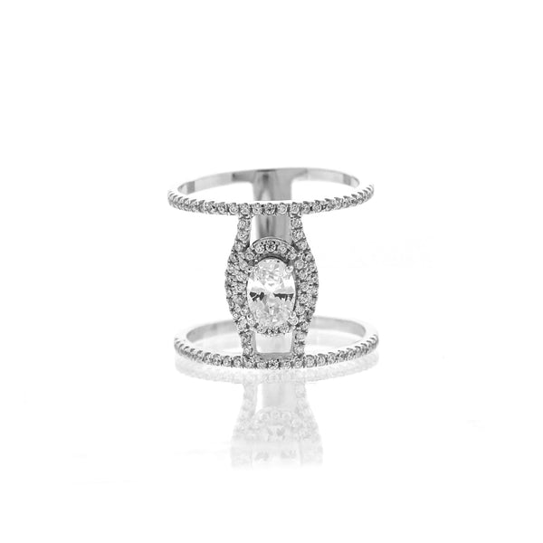 silver cz oval halo ring bobbyschandra
