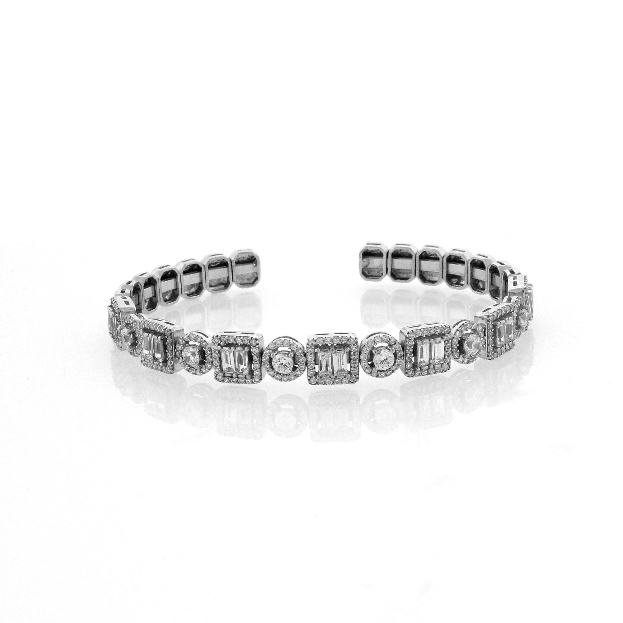 bracelets nicole mera diamond bangle bangles brace pave