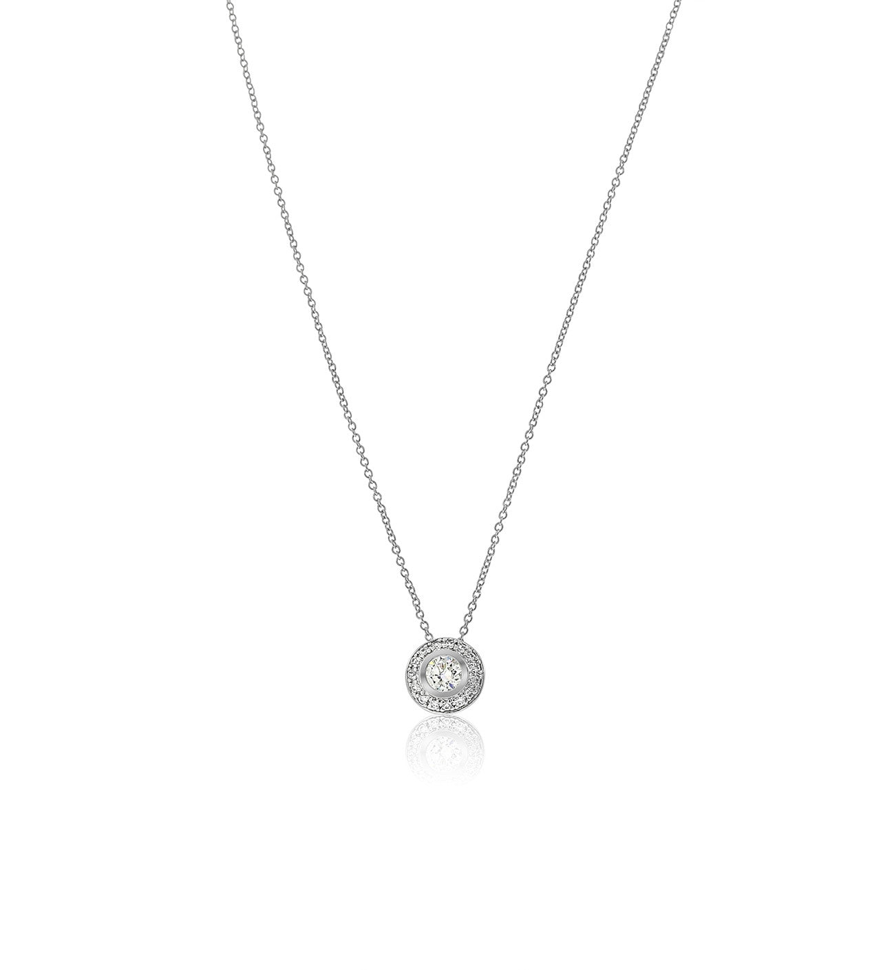 davies necklace set in product edwards rolo on solitaire pendant white gold a chain bezel diamond