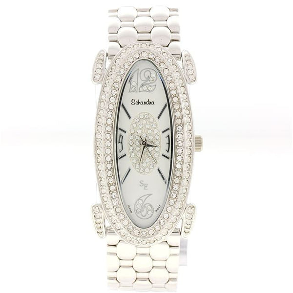 Silver Oval Swarovski Crystal watch