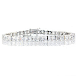 Chandi Diamond Silver Square Tennis Bracelet by Bobby Schandra