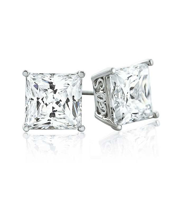 Clasic Square CZ Stud Earrings