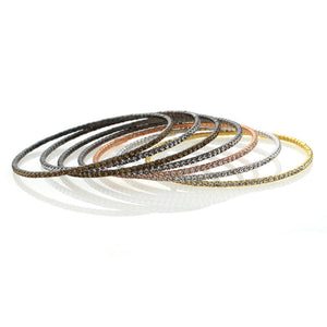 Chandi Diamond Stackable Bangle Bracelets Austrian Crystals by Bobby Schandra
