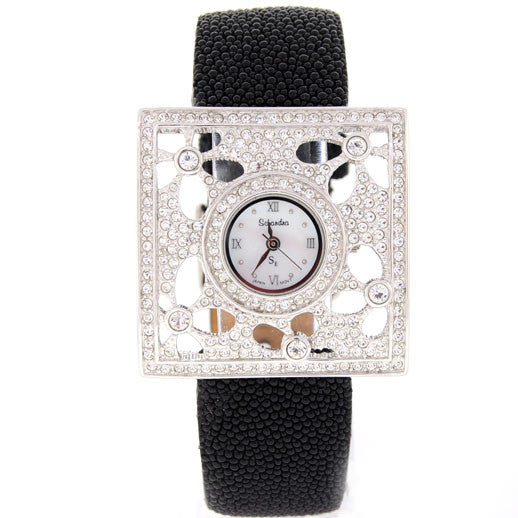 Stingray Band with Swarovski Crystal Flower watch