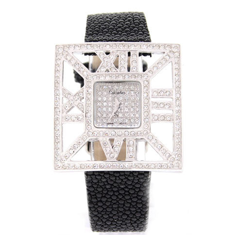 Stingray Band with Swarovski Crystal Watch Roman Numeral Bezel